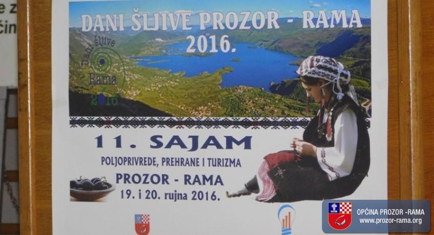 """Otvoren 11. Međunarodni sajam poljoprivrede, prehrane i turizma """"Dani šljive Prozor- Rama 2016."""""""